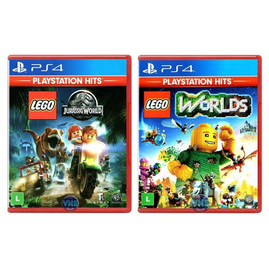 LEGO Jurassic World + LEGO Worlds - PS4 - Incolor