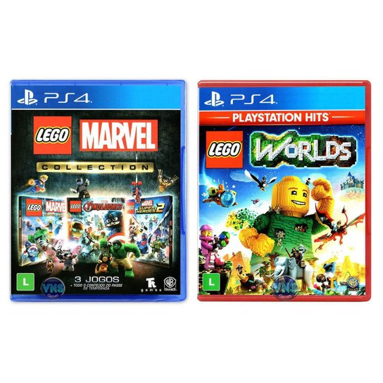 LEGO Marvel Collection + LEGO Worlds - PS4 - Incolor