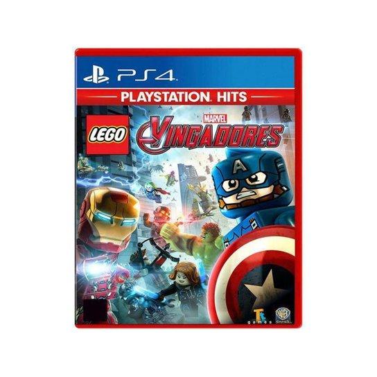 Lego Marvel Vingadores para PS4 - Azul+Vermelho