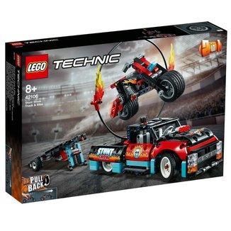 LEGO Technic - Motocicleta e Caminhao de Acrobacias - 42106
