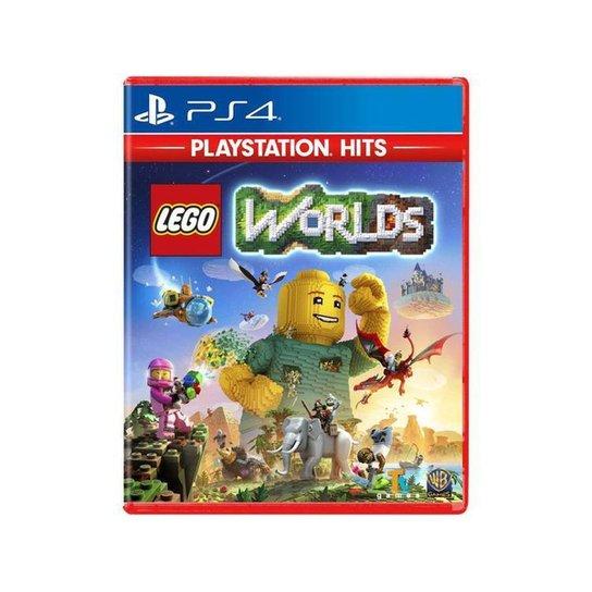 Lego Worlds para PS4 - Azul+Vermelho