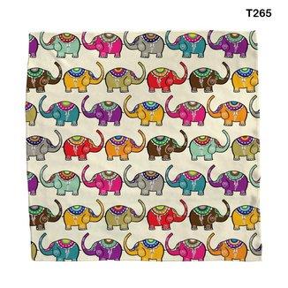 Lenço Bandana Estampa Elefante Colorido Em Grupo T265