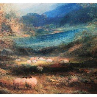 Lenço Jardim da Contemplação 70 x 180 cm