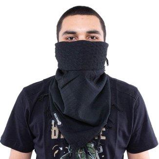 Lenço Shemagh Militar Tático Mirage Dune All Black 100% algodão - Invictus