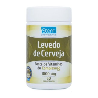 Levedo de Cerveja 1000mg (60 Comprimidos) - Stem Pharmaceutical