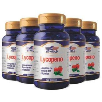 Licopeno de Tomate - 5 unidades de 100 Cápsulas - VitGold