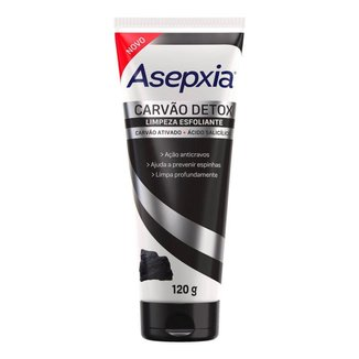 Limpeza Esfoliante Asepxia Carvão Detox 120g