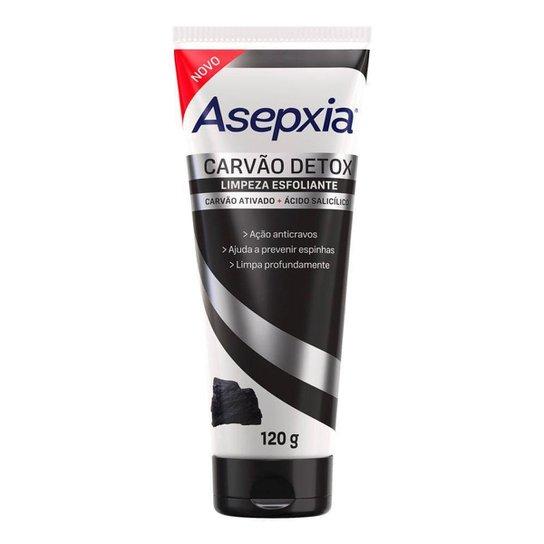 Limpeza Esfoliante Asepxia Carvão Detox 120g - Incolor