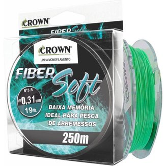 Linha Crown Fiber Soft Verde 0,31mm - 19 lbs 250m