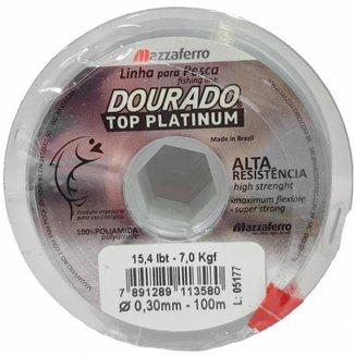 Linha De Pesca Dourado Top Platinum 0,30 Mm 200 M 15,4 Lbs