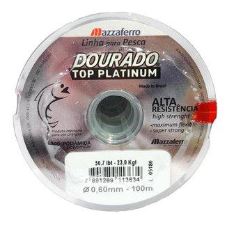 Linha De Pesca Dourado Top Platinum 0,60 Mm 200 M 50,7 Libras