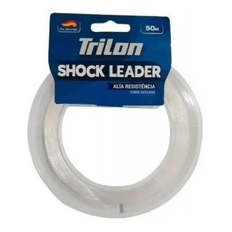 Linha De Pesca Mazzaferro Trilon Shock Leader 0,30mm 15,4 Libras 50 Metros Totalmente Invisível