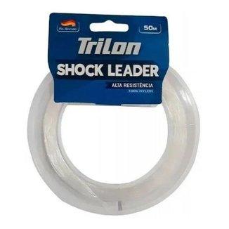 Linha De Pesca Mazzaferro Trilon Shock Leader 0,40m 25 Libras 50 Metros 100% Nylon