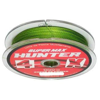 Linha De Pesca Multifilamento 4X Hunter 0,185 Mm 300 Metros 22 Libras Verde Resistente à Abrasão