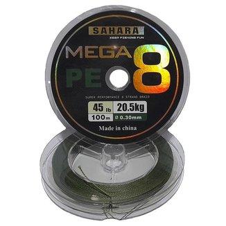 Linha De Pesca Multifilamento Mega PE 4X 0,30 Mm 100 Metros 45 Libras 20,5 Kg Na Cor Cinza