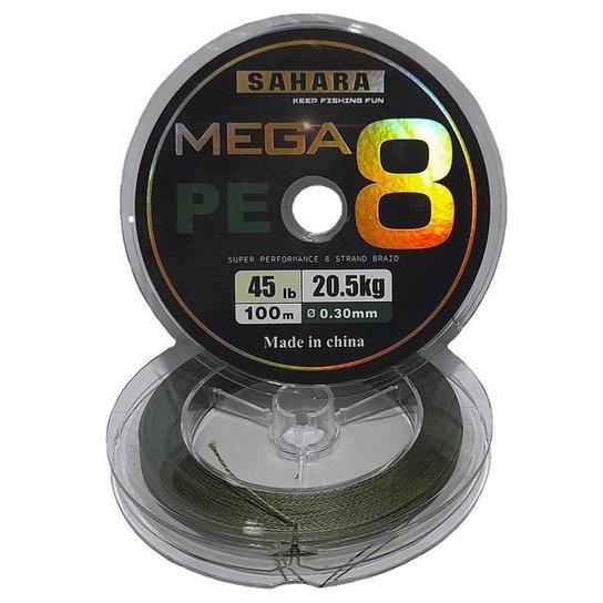 Linha De Pesca Multifilamento Mega PE 4X 0,30 Mm 100 Metros 45 Libras 20,5 Kg Na Cor Cinza - Cinza