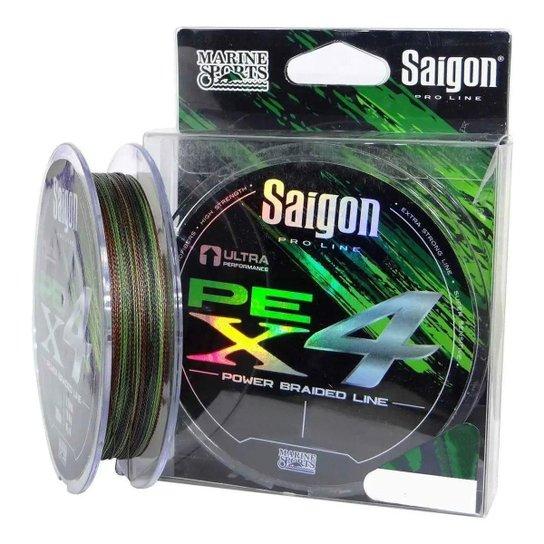 Linha Multifilamento Saigon X4 Camouflage 35lbs 0,25mm 300m - Camuflado