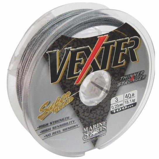 Linha Multifilamento Vexter 0,29mm 40lb Marine Sports Cinza - Cinza
