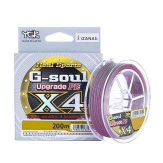Linha Multifilamento YGK X4 G-Soul Upgrade 4 fios 200m