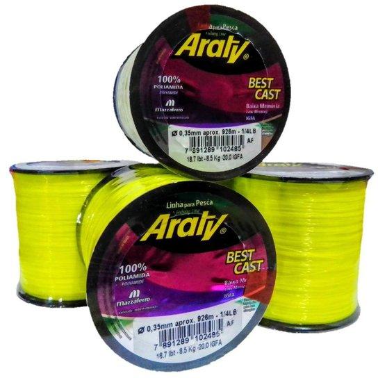 Linha Pesca Araty Best Cast 0,35 mm Amarela 926 m 18,7 Lbs - Amarelo