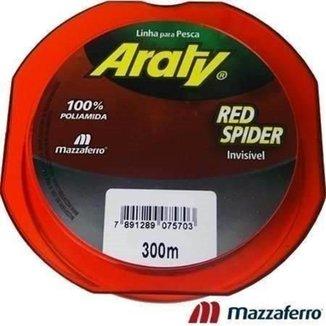 Linha Pesca Red Spider Araty 0,20 Mm 300 Metros Cor Vermelha
