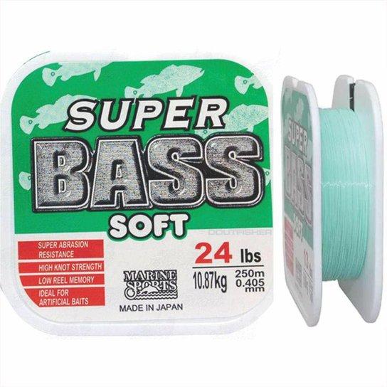 Linha Super Bass Soft 0,405mm 24lb Monofilamento Verde 250m - Verde