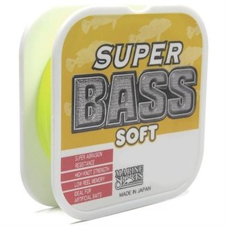 Linha Super Bass Yellow 0.33mm 250m Marine Sports