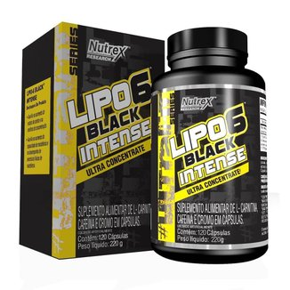 Lipo 6 Black Intense Ultra Concentrate 120 Cáps Nutrex