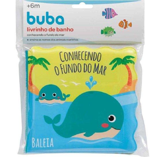 Livrinho de Banho Buba Conhecendo o Fundo do Mar - Azul