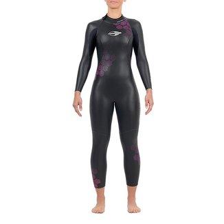 Long john manga longa backzip 3.2mm feminino triathlon 5a águas abertas Mormaii