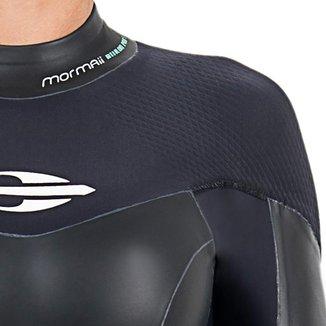 Long john manga longa backzip 5.3mm feminino triathlon 5a águas abertas Mormaii
