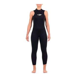Long john sem manga backzip 2mm feminino triathlon 5a águas abertas Mormaii