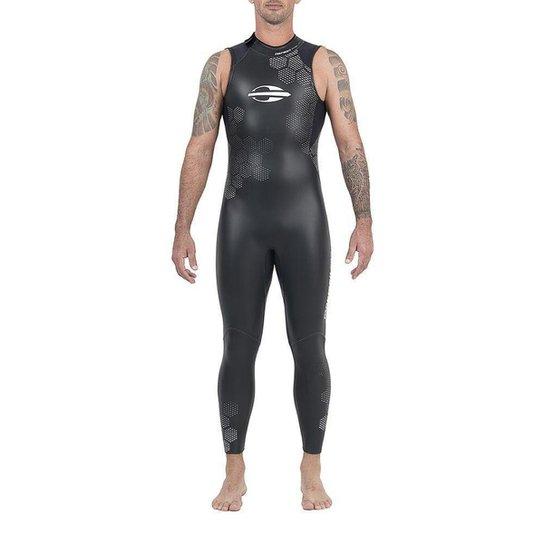 Long John Sem Manga Backzip 3.2mm Triathlon 5a Águas Abertas Mormaii - Preto