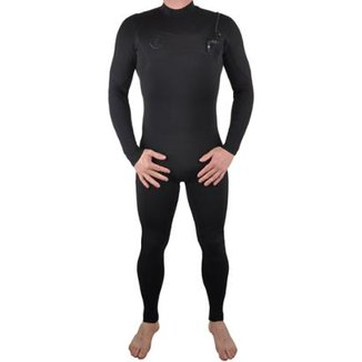 Long John Vissla Seven Seas Full Chest Zip Imp Selado 2.2 Mm