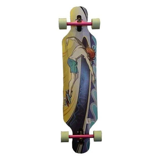 "Longboard Hondar Freestyle 40"" Praia - Roxo+Bege"