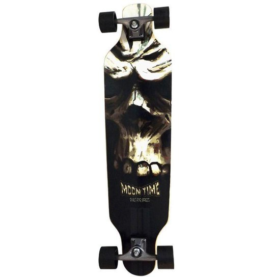 Longboard Moon Time Caveira Speed - Incolor