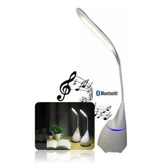Luminaria Abajour de Mesa Touch Flexivel Caixa de Som