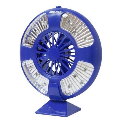 Luminária e Ventilador Nautika Fan Barracas com 16 LEDs