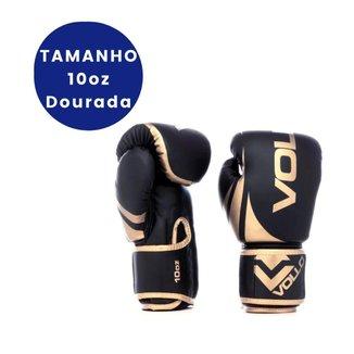 LUVA BOXE E MUAY THAI TRAINING GOLD DOURADA TAMANHO 10OZ VOLLO