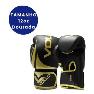 LUVA BOXE E MUAY THAI TRAINING GOLD DOURADA TAMANHO 12OZ VOLLO