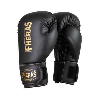 Luva Boxe Muay Thai Fheras Pró Black In Gold (080001)