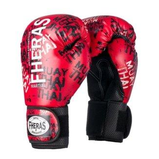 Luva Boxe Muay Thai Fheras Top Grafite (0700154)