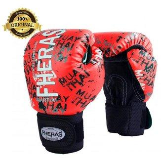Luva Boxe Muay Thai Fheras Top Grafite (070021)