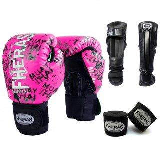 Luva Boxe Muay Thai Fheras Top Grafite (070085)
