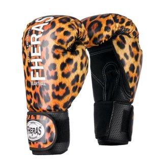 Luva Boxe Muay Thai Fheras Top Onça (070046)