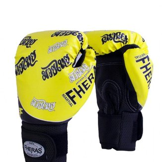 Luva Boxe Muay Thai Fheras Top Tailandesa (070065)