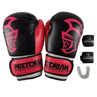 Luva Boxe Muay Thai Pretorian Performance Kit + B