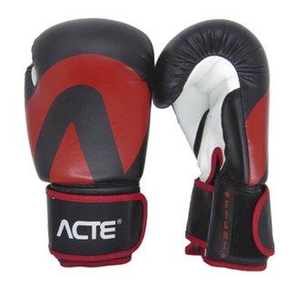Luva de Boxe Acte Sports 14 Oz - Preto/Vermelho