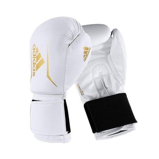 Luva de Boxe adidas Speed 50 White - Branco+dourado
