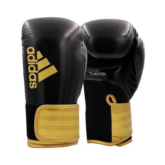 Luva de boxe e kickboxing adidas Hybrid 65 V2 Black Gold - Preto+Dourado